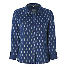 Buy White Stuff Tessa Print Jersey Shirt, Deep Dusky Blue Online at johnlewis.com