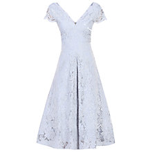 Buy Jolie Moi Cap Sleeve Lace Prom Dress, Grey Online at johnlewis.com