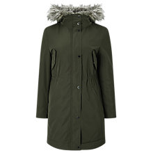 Buy Windsmoor Faux Fur Lined Parka Coat, Mid Green Online at johnlewis.com