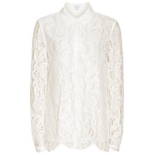 Buy Reiss Yasmina Lace Blouse, Off White Online at johnlewis.com