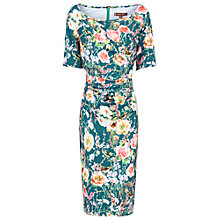 Buy Jolie Moi Floral Half Sleeve Shift Dress, Teal Online at johnlewis.com