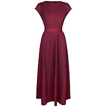 Buy Jaeger Fit and Flare Dress, Winter Berry Online at johnlewis.com