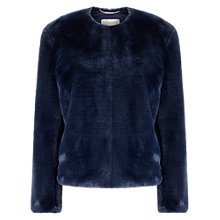 Buy Windsmoor Faux Fur Bomber Jacket, Navy Online at johnlewis.com