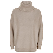 Buy Jaeger Merino Roll Neck Jumper, Pale Blush Online at johnlewis.com