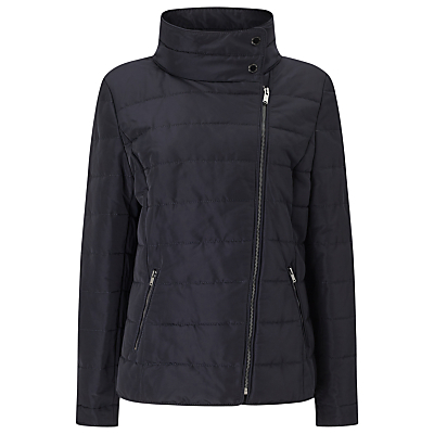 Windsmoor Asymmetric Short Quilt Jacket, Navy