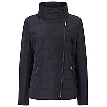 Buy Windsmoor Asymmetric Short Quilt Jacket, Navy Online at johnlewis.com