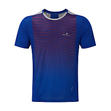 Buy Ronhill Stride Short Sleeve Crew Neck Running T-Shirt, Cobalt Blue Online at johnlewis.com
