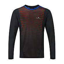 Buy Ronhill Stride Long Sleeve Crew Neck Running T-Shirt, Black/Red Online at johnlewis.com