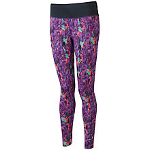Buy Ronhill Aspiration Rhythm Running Tights, Black/Purple Online at johnlewis.com