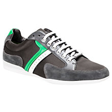 Buy HUGO BOSS Spacit Suede Trainers, Grey Online at johnlewis.com