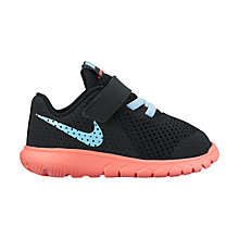 Buy Nike Toddler Flex Experience 5 PS Trainers, Black/Blue Online at johnlewis.com