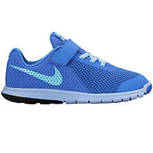 Buy Nike Children's Flex Experience 5 Trainers, Medium Blue/Still Blue Online at johnlewis.com