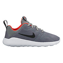 Buy Nike Children's Kaishi 2.0 Trainers, Cool Grey/Black Online at johnlewis.com