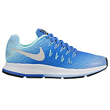 Buy Nike Children's Air Zoom Pegasus 33 Trainers, Blue/Metallic Silver Online at johnlewis.com