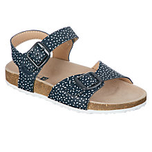 Buy John Lewis Children's Spotted Footbed Sandals, Navy Online at johnlewis.com