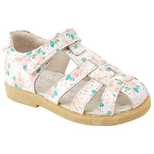Buy Start-rite Children's Ellie Floral Shoes, White/Pink Online at johnlewis.com