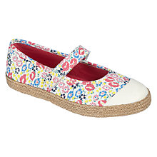 Buy John Lewis Children's Mary Jane Espadrille Shoes, Multi Online at johnlewis.com