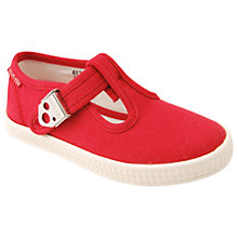 Buy Start-rite Children's Wells Canvas Shoes, Red Online at johnlewis.com
