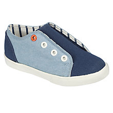 Buy John Lewis Children's Finlay Denim Double Rip-Tape Trainers, Blue Online at johnlewis.com