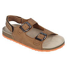 Buy John Lewis Children's Josh Leather Footbed Sandals, Tan Online at johnlewis.com