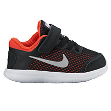 Buy Nike Toddler Flex 2016 RN Trainers, Black/Max Orange Online at johnlewis.com