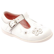 Buy Start-rite Children's Sunflower T-bar Shoes, White Patent Online at johnlewis.com