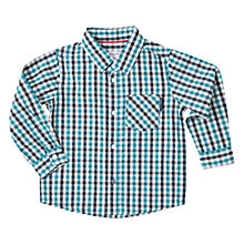 Buy Polarn O. Pyret Baby Long Sleeve Checked Shirt Online at johnlewis.com