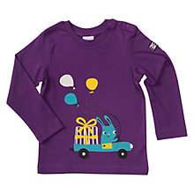 Buy Polarn O. Pyret Baby Party Animals Top, Grape Royale Online at johnlewis.com