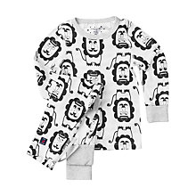 Buy Polarn O. Pyret Children's Lion Motif Pyjamas, Snow White Online at johnlewis.com