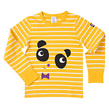 Buy Polarn O. Pyret Children's Striped Panda Top Online at johnlewis.com