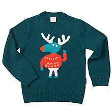 Buy Polarn O. Pyret Baby Elk Jumper, Deep Teal Online at johnlewis.com