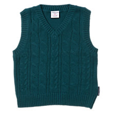 Buy Polarn O. Pyret Baby Cable Knit Tank Pullover Online at johnlewis.com