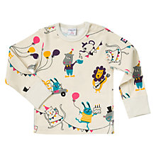 Buy Polarn O. Pyret Baby Party Animals Top, Birch Online at johnlewis.com