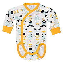 Buy Polarn O. Pyret Baby Animal Print Bodysuit Online at johnlewis.com
