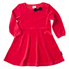 Buy Polarn O. Pyret Baby Long Sleeve Velour Dress, Ski Patrol Online at johnlewis.com