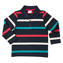 Buy Polarn O. Pyret Baby Striped Rugby Top, Dark Sapphire Online at johnlewis.com