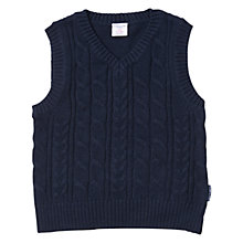 Buy Polarn O. Pyret Boys' Cable Knit Tank Top Online at johnlewis.com