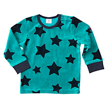 Buy Polarn O. Pyret Baby Star Velour Top, Quetzal Green Online at johnlewis.com