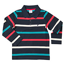 Buy Polarn O. Pyret Boys' Rugby Top, Dark Sapphire Online at johnlewis.com