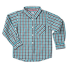 Buy Polarn O. Pyret Boys' Long Sleeve Checked Shirt Online at johnlewis.com
