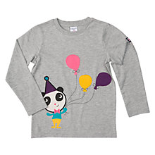 Buy Polarn O. Pyret Children's Party Panda Top, Grey Melange Online at johnlewis.com
