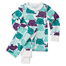 Buy Polarn O. Pyret Baby Frog Pyjamas, Quetzal Green Online at johnlewis.com