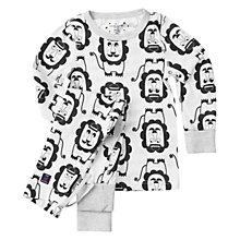 Buy Polarn O. Pyret Baby Lion Motif Pyjamas, Snow White Online at johnlewis.com