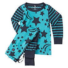 Buy Polarn O. Pyret Baby Star Motif Pyjamas, Dark Sapphire Online at johnlewis.com