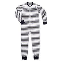 Buy Polarn O. Pyret Children's Striped Pyjamas, Grey Melange Online at johnlewis.com
