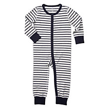 Buy Polarn O. Pyret Baby Striped All In One Pyjamas, Grey Melange Online at johnlewis.com