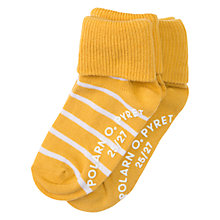 Buy Polarn O. Pyret Children's Non Slip Socks, Pack of 2, Golden Rod Online at johnlewis.com