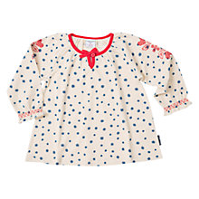 Buy Polarn O. Pyret Baby Embroidered Top, Birch Online at johnlewis.com