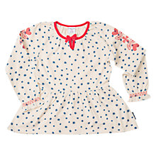 Buy Polarn O. Pyret Girls' Embroidered Tunic Top, Birch Online at johnlewis.com