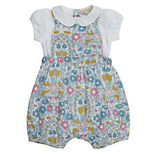 Buy John Lewis Heirloom Collection Baby Daisy Bibshort Set, Green/Multi Online at johnlewis.com